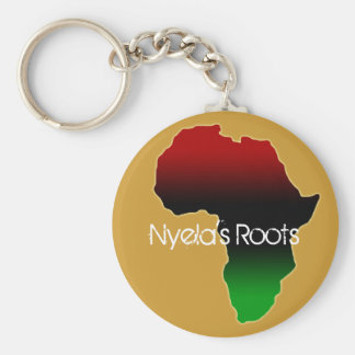 Personalized Name Africa Continent Keychain