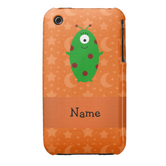 Personalized name alien orange stars moons Case-Mate iPhone 3 case
