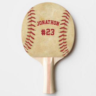 Personalized Name and Number Baseball Both Sides Ping Pong Paddle