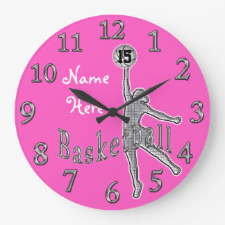 Personalized NAME and NUMBER Basketball Clocks