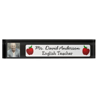 Personalized Name and Photo Name Plate Teacher