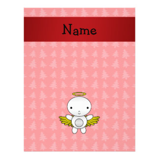Personalized name angel red christmas trees custom flyer