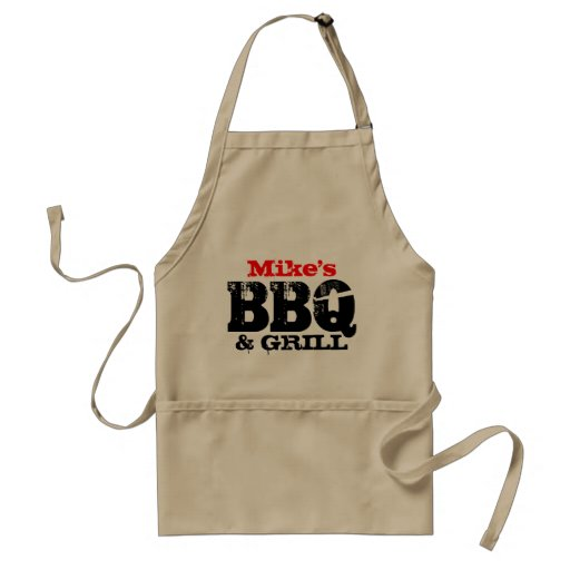 Personalized name apron for men