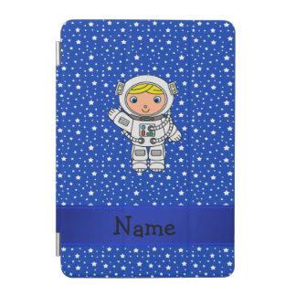 Personalized name astronaut blue stars iPad mini cover