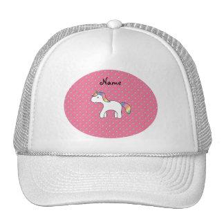 Personalized name baby unicorn pink diamonds trucker hat