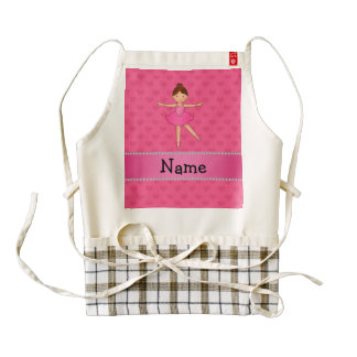 Personalized name ballerina pink hearts
