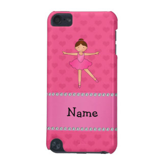 Personalized name ballerina pink hearts iPod touch (5th generation) case