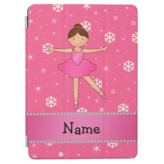 Personalized name ballerina pink snowflakes iPad air cover