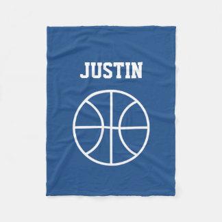 Personalized name basketball fleece blanket