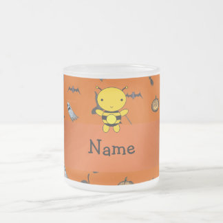Personalized name bee halloween pattern mug