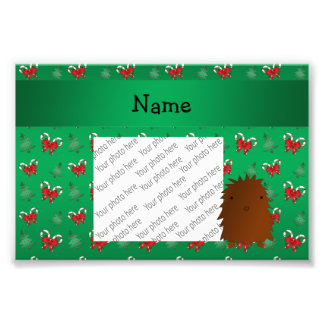 Personalized name bigfoot green candy canes bows photograph
