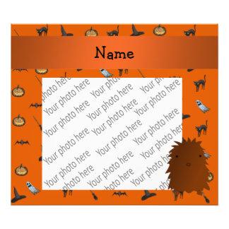 Personalized name bigfoot halloween pattern photo art