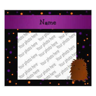 Personalized name bigfoot halloween polka dots photo