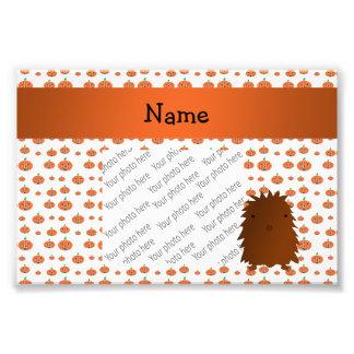 Personalized name bigfoot pumpkins pattern art photo