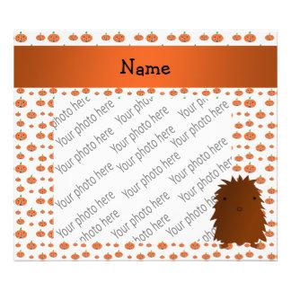 Personalized name bigfoot pumpkins pattern photo print