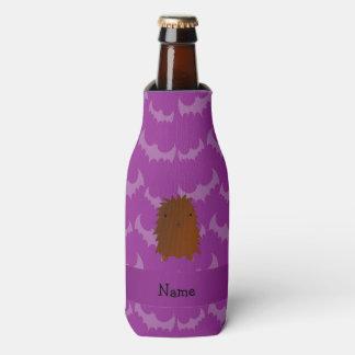 Personalized name bigfoot purple bats bottle cooler