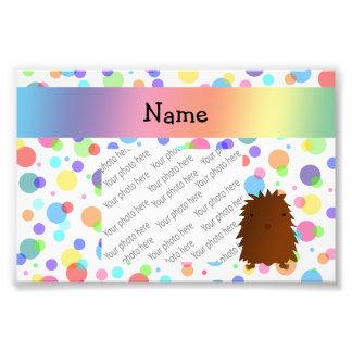 Personalized name bigfoot rainbow polka dots photo art