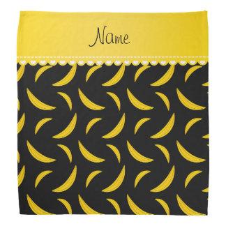 Personalized name black bananas bandana