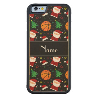 Personalized name black basketball christmas carved® maple iPhone 6 bumper