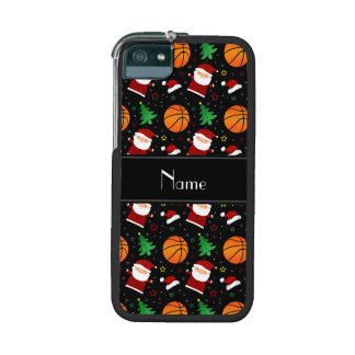 Personalized name black basketball christmas cover for iPhone 5/5S