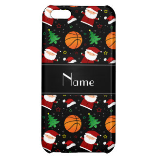 Personalized name black basketball christmas iPhone 5C cases