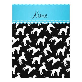Personalized name black bedlington terrier dogs 21.5 cm x 28 cm flyer