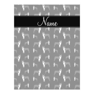 Personalized name black boston terrier flyers