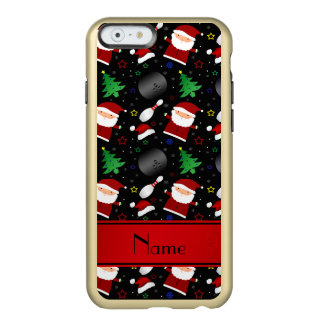 Personalized name black bowling christmas pattern incipio feather® shine iPhone 6 case