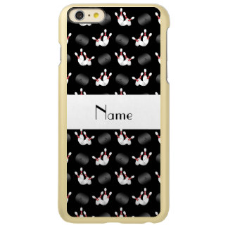 Personalized name black bowling pattern iPhone 6 plus case