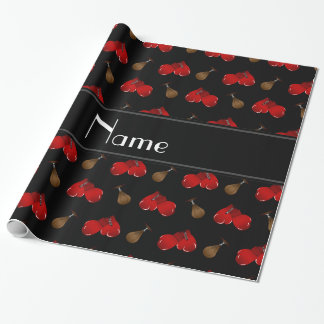 Personalized name black boxing pattern wrapping paper