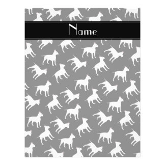 Personalized name black bull terrier dogs 21.5 cm x 28 cm flyer