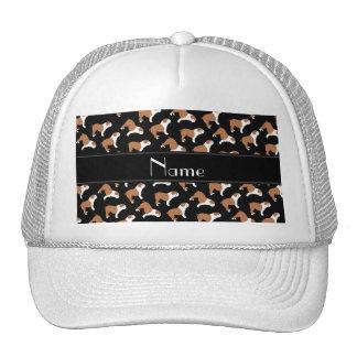 Personalized name black Bulldog Cap