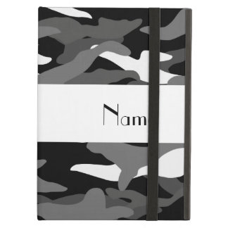 Personalized name black camouflage case for iPad air