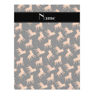Personalized name black chihuahua dogs 21.5 cm x 28 cm flyer