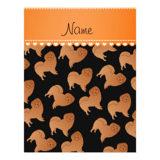 Personalized name black chow chow dogs 21.5 cm x 28 cm flyer