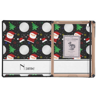 Personalized name black christmas golfing case for iPad
