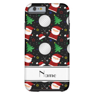 Personalized name black christmas golfing tough iPhone 6 case