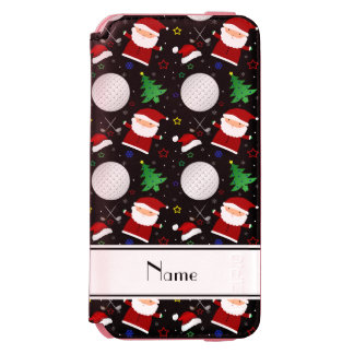 Personalized name black christmas golfing incipio watson™ iPhone 6 wallet case