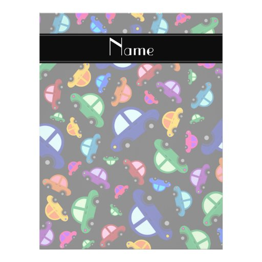 Personalized name black cute car pattern flyer