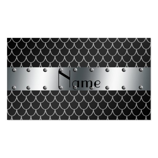 Personalized name black dragon scales business cards