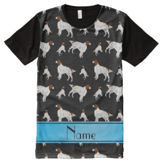Personalized name black English Setter All-Over Print T-Shirt