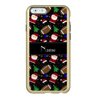 Personalized name black football christmas incipio feather® shine iPhone 6 case