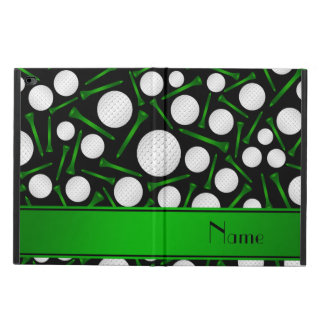 Personalized name black golf balls tees powis iPad air 2 case