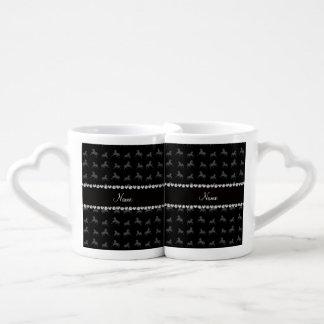 Personalized name black horse pattern lovers mug