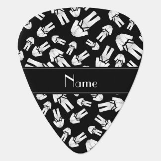 Personalized name black karate pattern plectrum