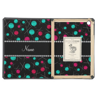 Personalized name black knitting pattern case for iPad air