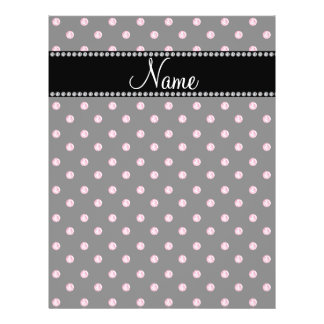 Personalized name Black pink diamonds Flyers