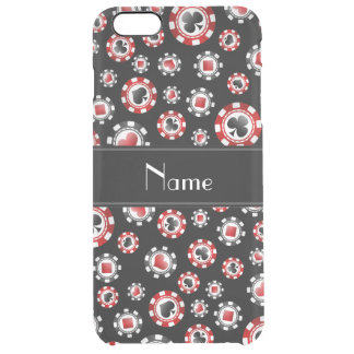 Personalized name black poker chips iPhone 6 plus case