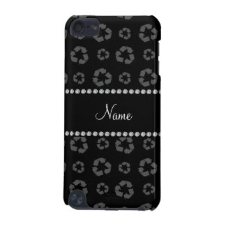 Personalized name black recycling pattern iPod touch 5G case