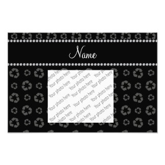 Personalized name black recycling pattern photograph